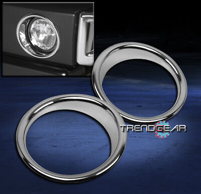 2003-2009 Hummer H2 Suv Sut Bumper Fog Light Lamp Trim Bezel Cover Ring Chrome