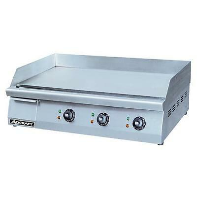 "AdCraft GRID-30 30"" Countertop Electric Griddle - Flat Top Grill"