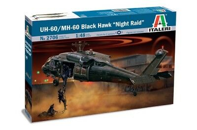 Italeri 2706 - 1/48 Uh-60A Black Hawk Night Raid - Neu