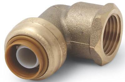 "Sharkbite U308Lfa  Brass 1/2"" Push Fit Copper Pex Cpvc Female Elbow 4345708"