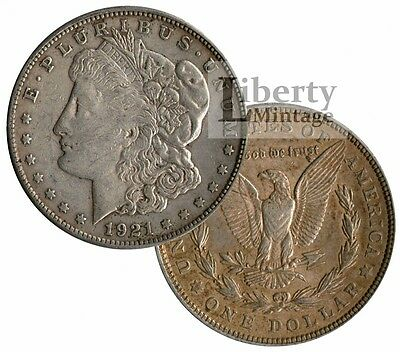MORGAN DOLLAR 1921 U.S. 90% Silver $1 Coin - VG-XF