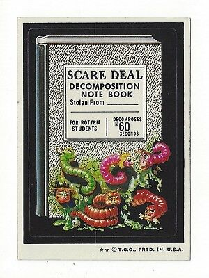 1974 Topps Wacky Packages 6th Series 6 SCARE DEAL DECOMPOSITION NOTEBOOK ex+
