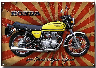 Honda 400 Four Supersport Motorcycle Enamelled Metal Sign.iconic Classic.