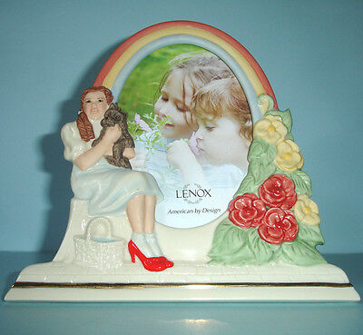 "Lenox Dorothy and Toto Picture Frame Wizard of Oz 4x6"" Hand-Painted+Sculpted New"