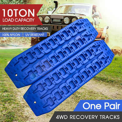 2pc NEW 10T Pair Recovery Tracks Sand Track Sand / Snow / Mud Trax 4WD Blue
