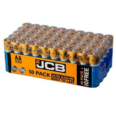 50x JCB AA LR6 MN1500 Ultra Alkaline AA Batteries - Extra Value Pack