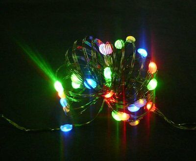 Starlite Creations Battery Operated LED Ultra Slim Wire  9 ft  36 LEDs  Multi Bu