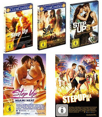 5 DVDs * STEP UP - TEIL 1 + 2 + 3 + 4 + 5 IM SET # NEU OVP +