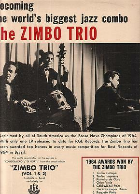 The Zimbo Trio 1965 Ad- acclaimed by all of South America/Discos RGE