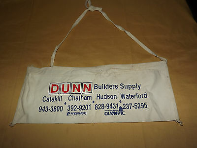 Vintage  Dunn Builders Supply Tool Nail Cloth Apron