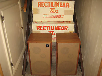 Pair of Vintage Rectilinear XIA speakers excellent VERY RARE FIND IN BOXES ! !