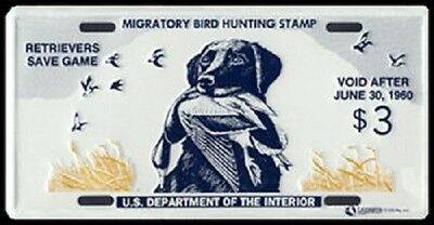 "Federal Duck Stamp License Plate ""king Buck"" Black Lab Rw-26"
