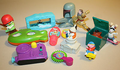 Vtg 80s to Now~14 pc Junk Drawer Toy Lot*Character*Figures*Fast Food Toys