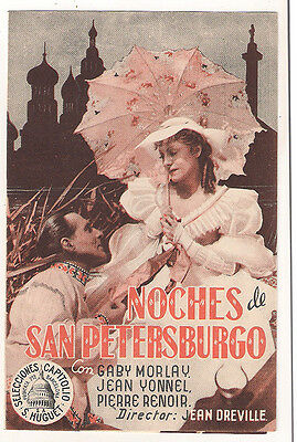 Les Nuits Blanches De Saint-Petersbourg Morlay Spanish Double Herald Mini Poster