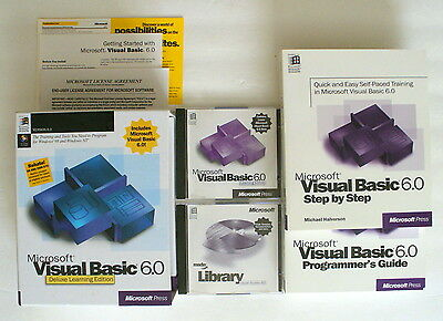 Microsoft Visual Basic 6 6.0 Standard Windows 7 #3508 Deluxe Learning Edition