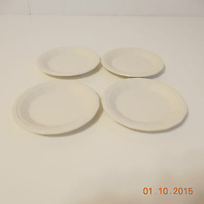HOMER LAUGHLIN COLONIAL WHITE SET OF 4 SAUCERS