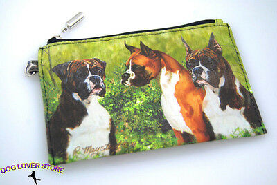 Boxer Dog Bag Zippered Pouch Travel Makeup Coin Purse