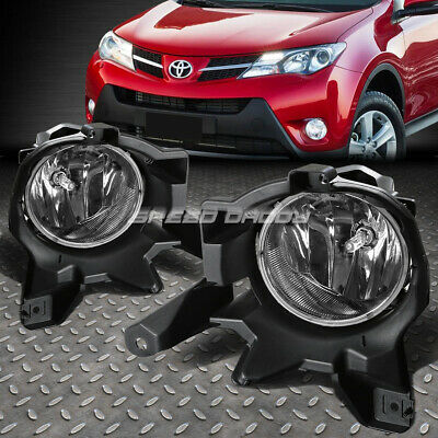 For 13-16 Rav4 Le/xle/ltd Clear Lens Driving Bumper Oe Fog Light/lamp+Switch