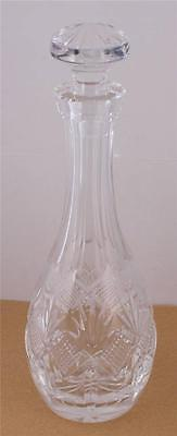 VTG Waterford Cut Crystal Decanter Glass Cordial Liquor Stopper 1/2 Liter