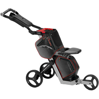 Sun Mountain Combo Cart & Golf Bag Push Trolley - Black/Silver/Red