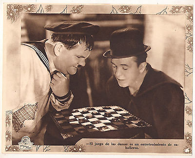 F10415 THE FIXER UPPERS STAN LAUREL OLIVER HARDY MGM Lobby Card Spain A