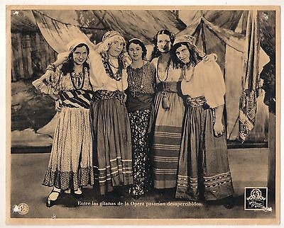 F10492 A NIGHT AT THE OPERA CHICO GROUCHO MARX MGM Lobby Card Spain A