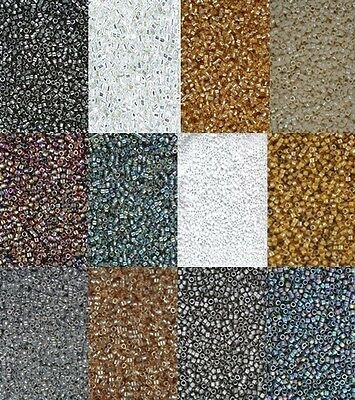 Miyuki delica beads -12 packs Assorted Neutral Colours
