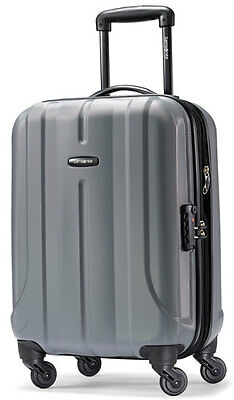 "Samsonite Fiero 20"" Carry On Spinner 4 Wheeled Hardside Upright Luggage - Charc"