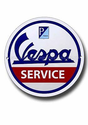 Vespa Service Round Metal Sign,mods,scooters.