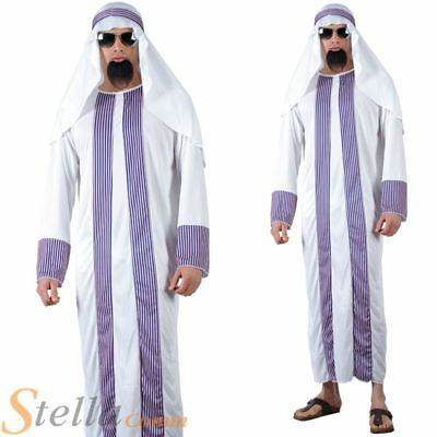 Mens Adult Sheikh Arab Eastern Egyptian Stag Do Fancy Dress Costume Outfit