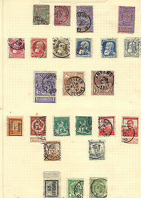 BELGIUM Old Stamp Collection Used EARLY ISSUES Ref:F455