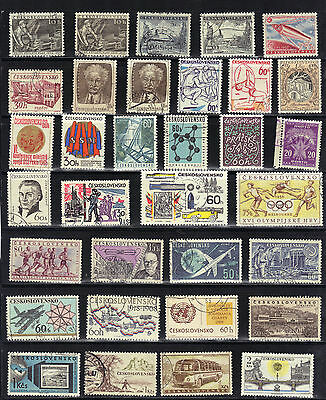 CZECHOSLOVAKIA Old Stamp Collection  USED REF:F461