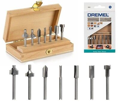 Dremel 660 Multipurpose Router Cutter Set 7pc & Case 612 615 640 650 652 654 655