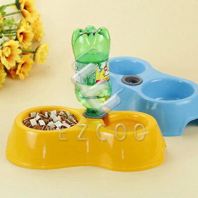 Colorful Pet Dog Cat Automatic Water Dispenser Food Dish Bowl Feeder