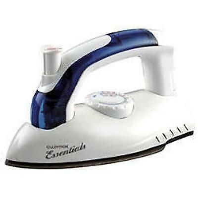 Lloytron E156 Shot Of Steam Dry Travel Iron Caravan Camping Folding Handle White
