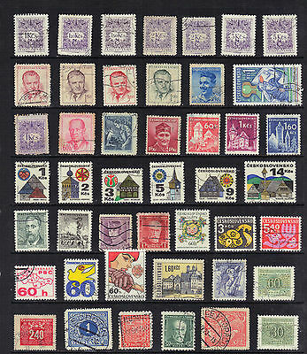 CZECHOSLOVAKIA Old Stamp Collection  USED REF:F464