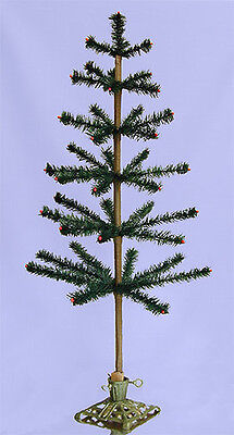 """36"""" Old Fashion Vintage Style Feather Tree ~ Forest Green"""