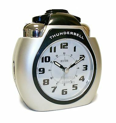 Acctim Thunderbell Alarm Clock with extra loud ringer snooze and light