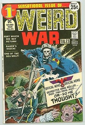 Weird War Tales 1 7.5 8.0 Nice Pages Nice Glossy Cover Dc Comics Pc