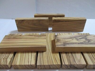 10 Bethlehem OLIVE WOOD ~HIGHLY FIGURED~ Knife Scales Blanks.BEST OLIVEWOOD