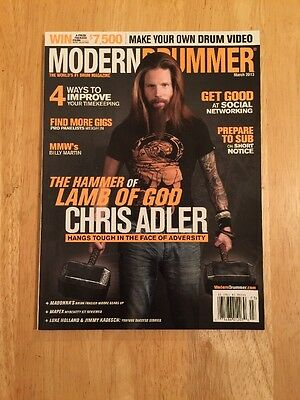 Chris Adler Lamb Of God On Modern Drummer Magazine March 2013 NEW UNREAD