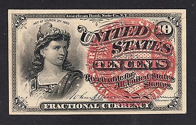US 10¢ Fractional Currency Note 4th Issue FR 1258 Ch CU