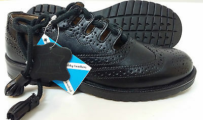 """Kids Youths Leather Scottish Ghillie Kilt Leather Brogues Shoes """"48 Hour Sale"""""""