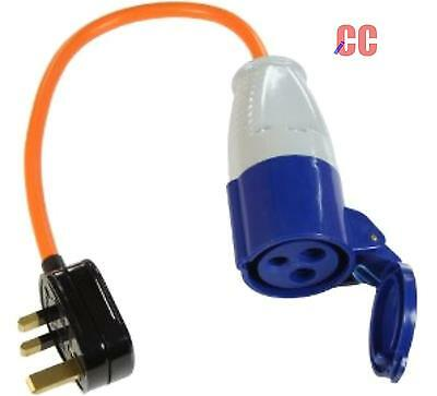 mains hook up Caravan Motorhome connection adapter Cable house converter lead UK