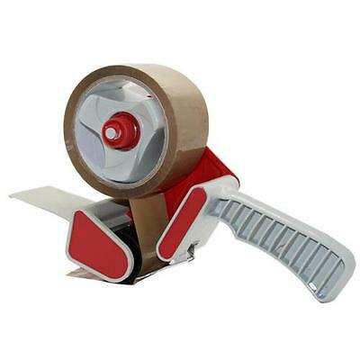 Hand Held Parcel Tape Dispenser Gun Wrapping + 2 Rolls 50mm Packing Buff Tape
