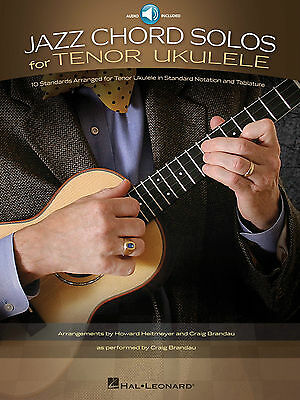 Jazz Chord Solos For Tenor Ukulele Tab Book Cd NEW!