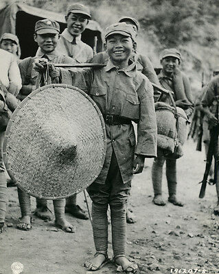 1944 MR Chinese 7 Year Old Soldier 39th Div. Salween River Campaign 8x10 Photo