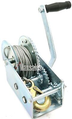 Heavy Duty 2000LBS HAND CABLE WINCH  FOR AUTO BOAT TRAILER  TOOL TOW PULLER