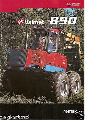 Equipment Brochure - Valmet - 890 - Logging Forwarder - 2002 - French (E1953)