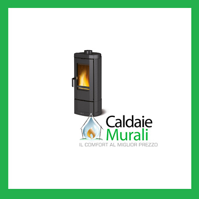 STUFA A LEGNA IN GHISA SMALTATA LA NORDICA EXTRAFLAME - CANDY 7,2 kW ANTRACITE